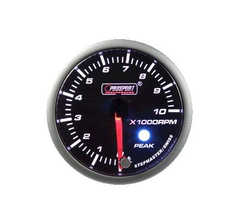 Prosport 52mm Analogue Tachometer Gauge with Peak Recall