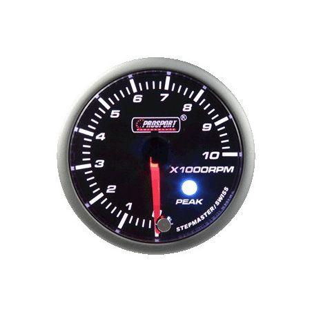 Prosport 52mm Analogue Tachometer Gauge with Peak Recall