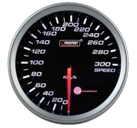 Prosport 80mm Analogue Speedometer with LED Display