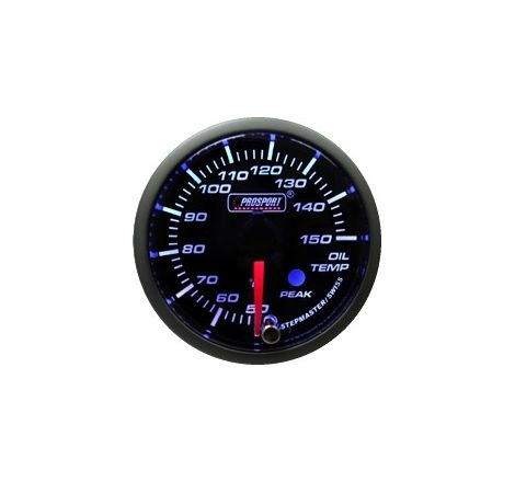 Prosport 52mm Analogue Oil Temperature Gauge with Peak Recall