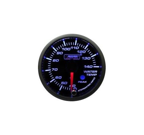Prosport 52mm Analogue Water Temperature Gauge with Peak Recall
