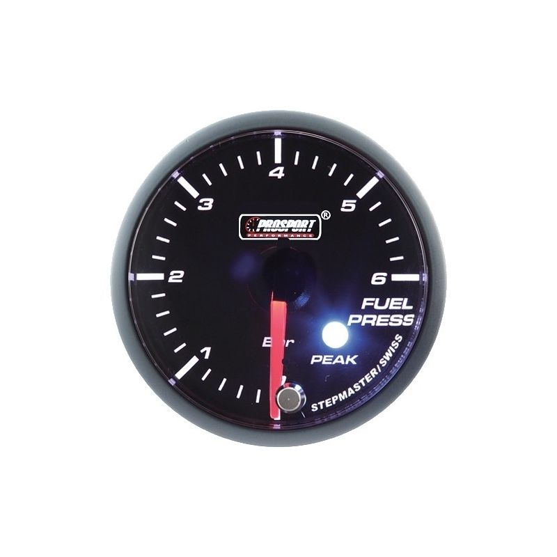 Prosport 52mm Analogue Fuel Pressure Gauge with Peak Recall Prosport - 1