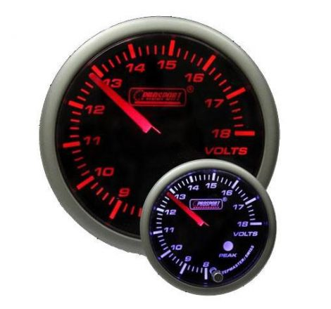 Prosport 52mm Analogue Voltage Gauge with Peak Recall