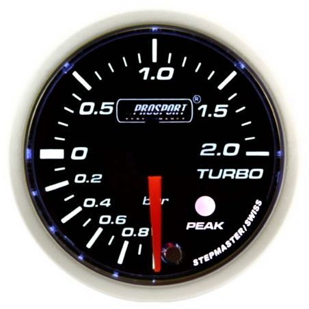 Prosport 52mm Analogue 2Bar Boost Gauge with Peak Recall