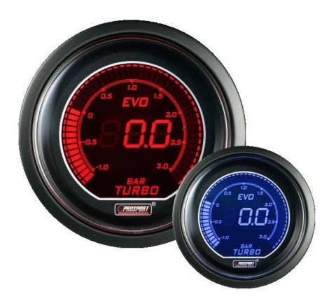 Prosport 52mm EVO Series 3Bar Boost Gauge