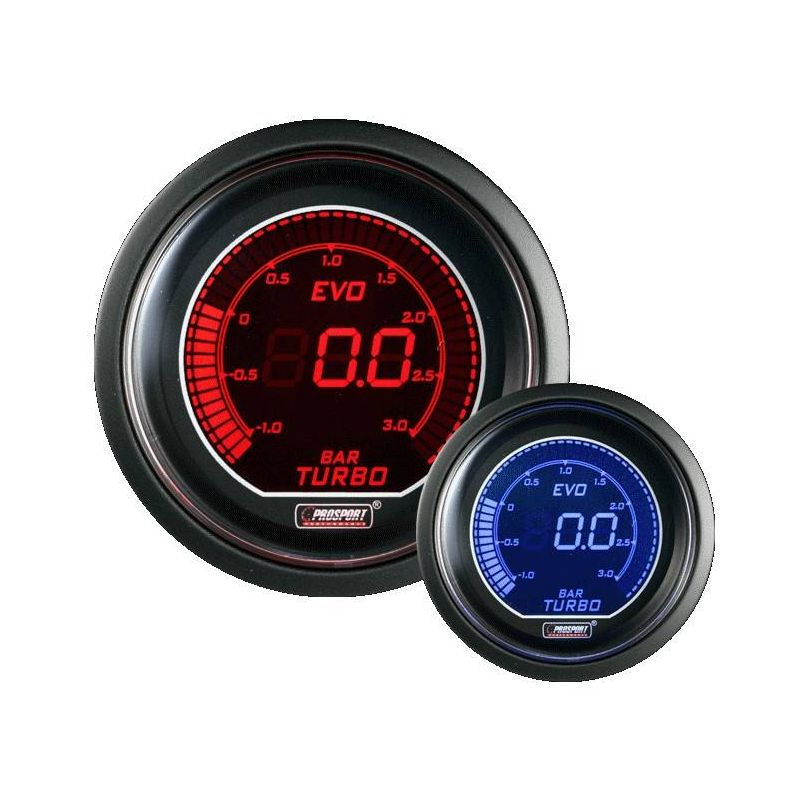 Prosport 52mm EVO 3Bar Boost Gauge - 1
