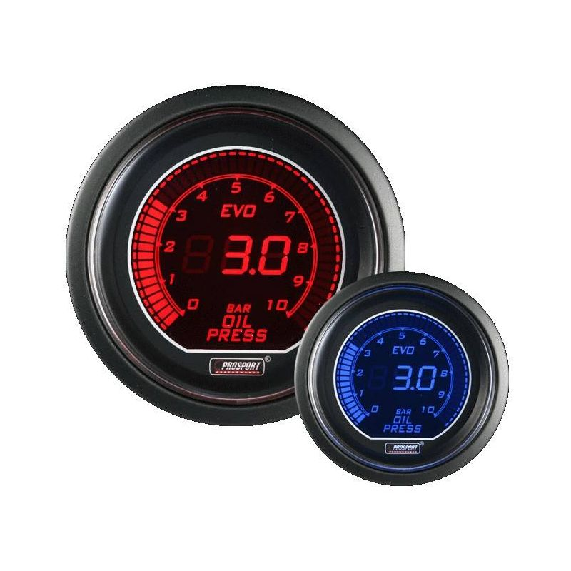 Prosport 52mm EVO Series Oil Pressure Gauge