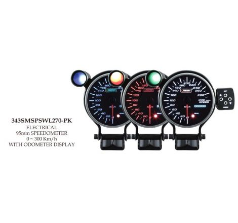Prosport 95mm Analogue Speedometer with LED Display