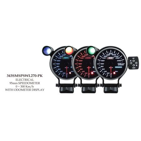 Prosport 95mm Analogue Speedometer with LED Display Prosport - 1