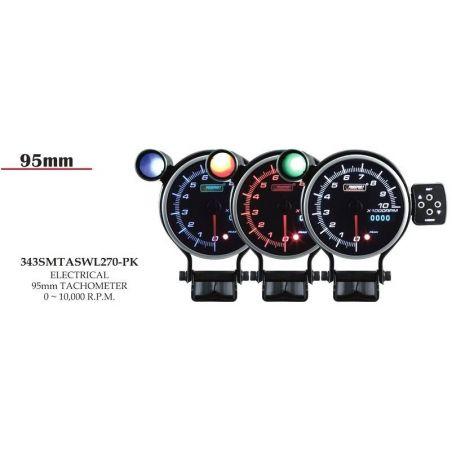Prosport 95mm Analogue Tachometer with LED Display Prosport - 1
